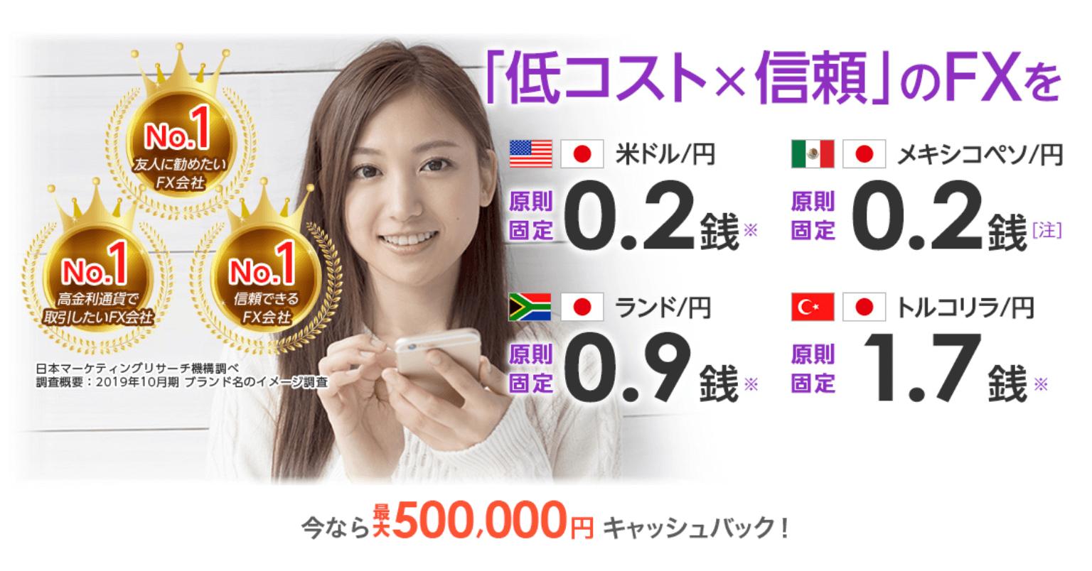 セントラル短資FX最大50万円新規口座開設キャンペーン!イメージ