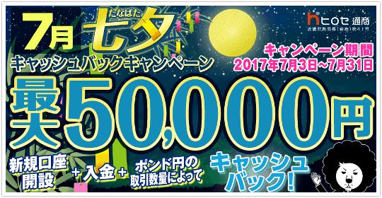ヒロセ 5万円キャッシュバックキャンペーン!イメージ