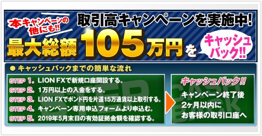 ヒロセ通商の最大105万円キャッシュバックキャンペーンについて