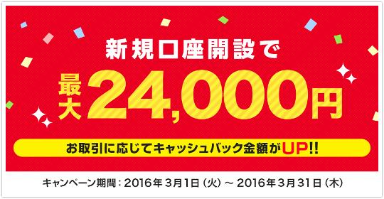 YJFX!最大24000円新規口座開設キャンペーンの真実!イメージ