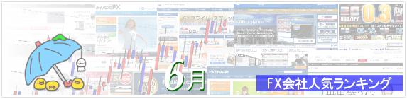 FX会社人気ランキング 2015年6月版イメージ