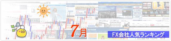 FX会社人気ランキング 2015年7月版イメージ